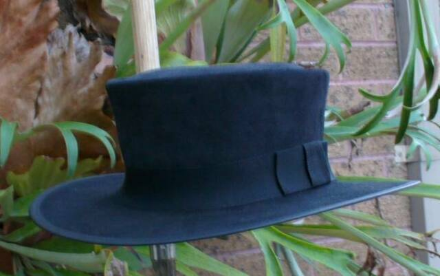 BLACK SUEDE LEATHER CLINT EASTWOOD STYLE PALE RIDER MOVIE MENS HAT HAND MADE c2d1e5722fb