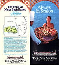 Casa Marina Resort Key West Florida Vintage Brochure Color Photos Map Marriott