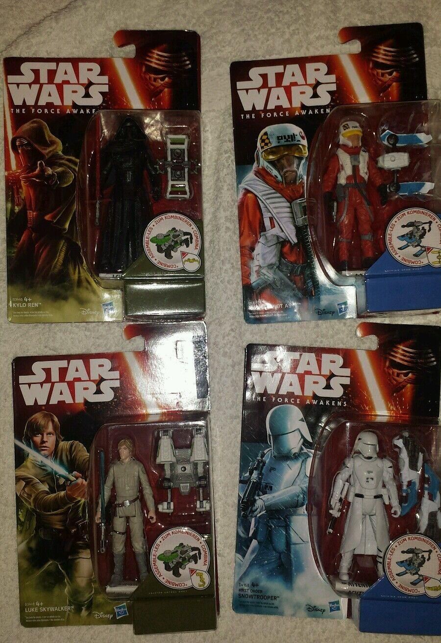 4 x Star Wars Force Awakens Figures Kylo Ren Snowtrooper New & Sealed