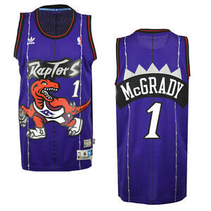 33edc9081437 Tracy McGrady  1 Toronto Raptors Adidas NBA Soul Dinosaur Swingman ...
