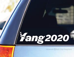 Andrew Yang 2020 YangGang White Vinyl Decal Sticker Car Laptop President MATH