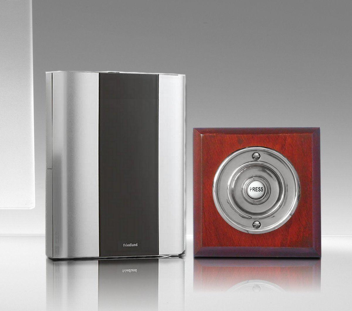 Friedland Libra+ Classic 100m Wireless Doorbell kit with Wireless Period Chrome