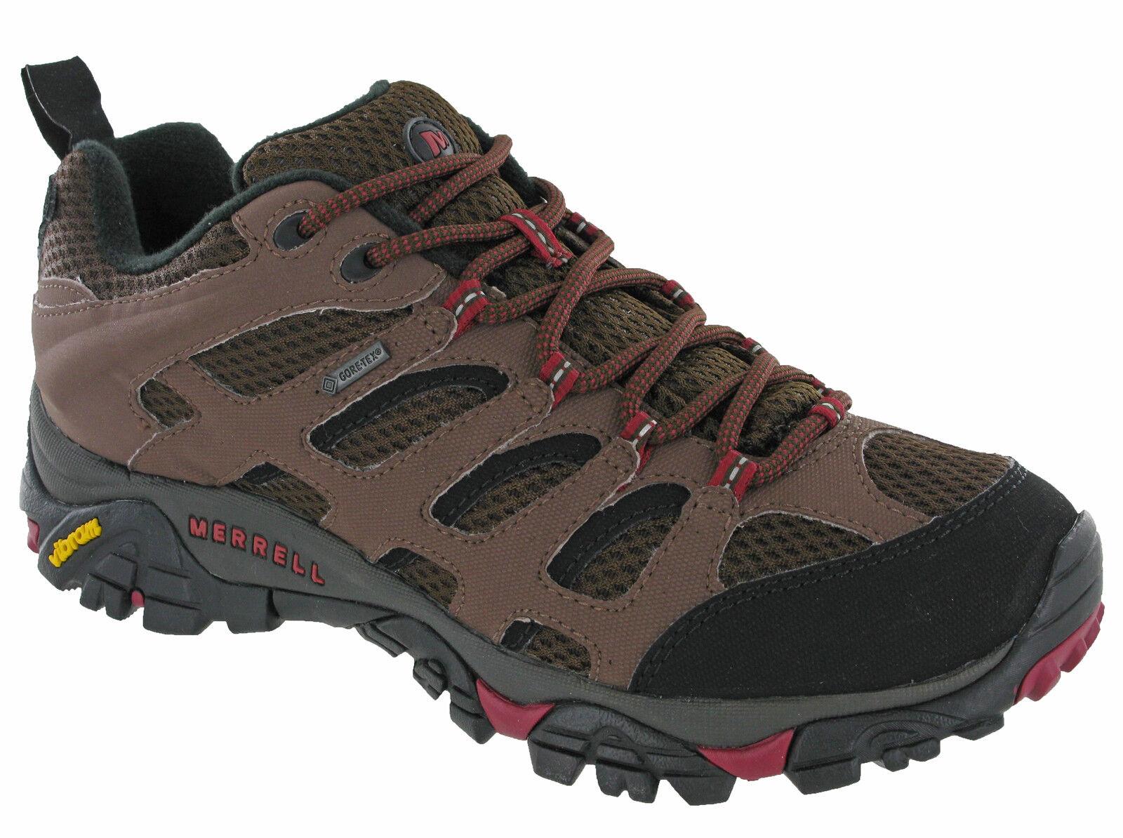 Merrell Moab Gore-tex Walking Trekking Trainers Mens Lace Up J32329 Potting Soil