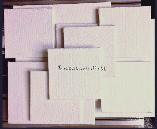 Lot of 10 Blank White Art Painting Canvas Panels Each Factory Sealed 100% Cotton