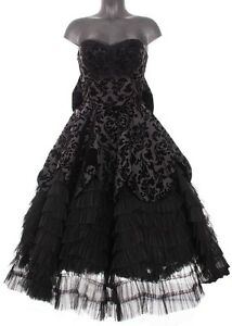 Hell-Bunny-Lavintage-Black-Lace-Ball-Gown-Prom-Formal-Dress-Gothic
