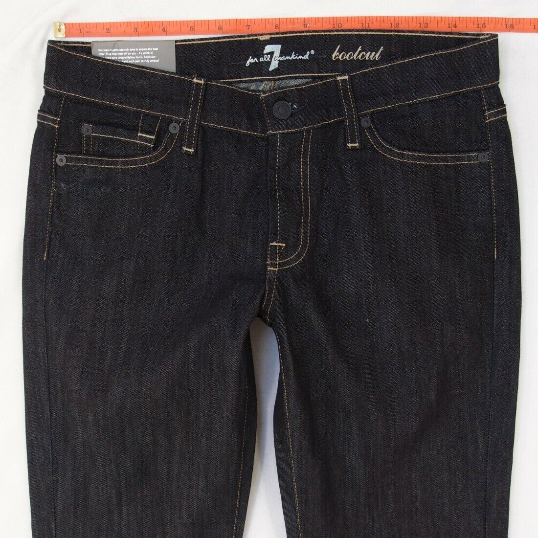 NEW Ladies Seven 7 for All Mankind BOOTCUT Stretch bluee Jeans W30 L34 BNWT