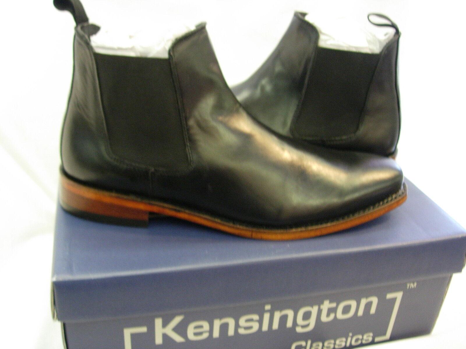 Caballeros Negro de cuero para hombre M833 Suela Chelsea Tobillo botas Deale