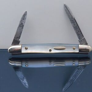Vintage-Merrimac-Cutlery-Co-Germany-Small-2-Blade-MOP-Office-Pocket-Pen-Knife