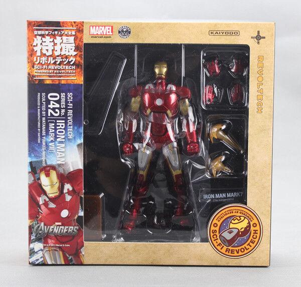 Kaiyodo Revoltech 042  SCI-FI Avengers IRON uomo MARK VII 7 cifra 100% Authentic  prezzo basso