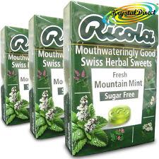 3x Ricola fresco de montaña Perfecto Swiss Herbal Drops Pastillas Dulces Sugar Free 45g