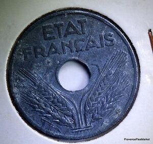 MONNAIE France 20 Cents Condition French 1942 Zinc AC413