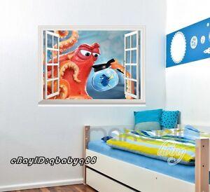 Finding Dory Octopus Hank D Window Wall Decals Removable Stickers - 3d window wall decals