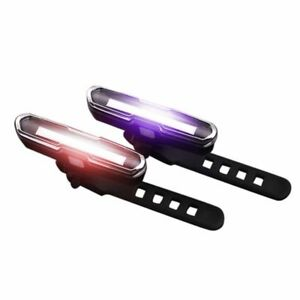 5 LED USB Rechargeable Bike Tail Cycling Warning Rear Lamp Light Safety~Bicycle