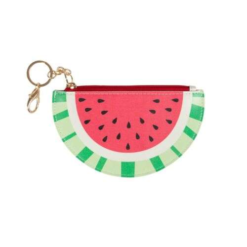 Sass /& Belle TROPICAL WATERMELON KEYRING COIN PURSE Wallet Key Ring Kids Vegan