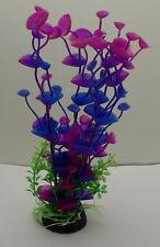 Künstliche Wasserpflanze Aquarium Plastik  24 cm 6 Triebe lila pink tolle Optik
