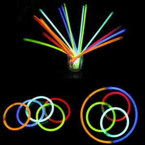10x-Glow-Sticks-Bracelets-Necklaces-Neon-Colours-Party-Favors-Rave-Disco-Useful