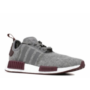 best sneakers e38ad e98e4 Details about Adidas NMD_R1 Runner Nomad Boost Burgundy Grey Maroon Wool  Exclusive CQ0761