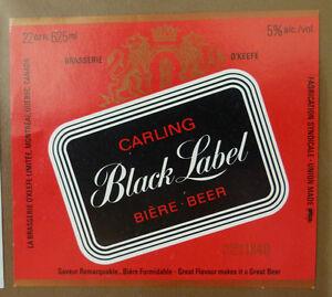 VINTAGE-CANADIAN-BEER-LABEL-O-039-KEEFE-MONTREAL-CARLING-BLACK-LABEL-BEER-22FLOZ