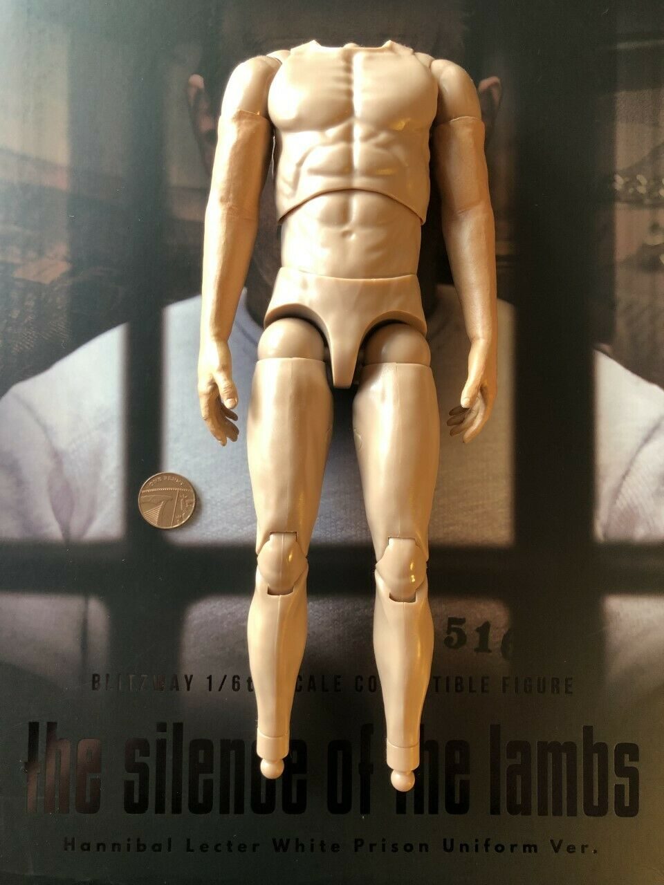 BLITZWAY Hannibal Lecter Weiß Prison Ver Nude Körper loose 1 6th scale