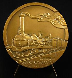Medaglia-locomotiva-Crampton-N-80-continente-Linea-Parigi-Strasburgo-1852-treno