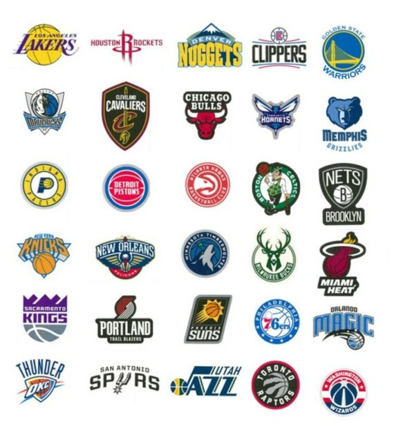 Nba Decal Stickers Basketball Team Logos Licensed Complete Set Of