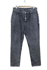 Denim Co. Faded Grey Jeans Buttoned - Size UK16