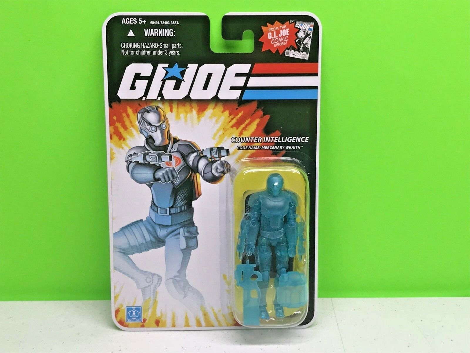 HASBRO - GI JOE - COMIC SERIES - COUNTER INTELLIGENCE - MERCENARY WRAITH - NEW