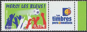 2006-FRANCE-N-3936A-PERSONNALISE-Football-034-Merci-les-Bleus-034-Logo-034-TP-034