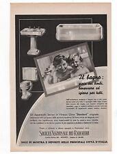 Pubblicità epoca SANITARI BAGNO STANDARD HOME advert werbung publicitè reklame