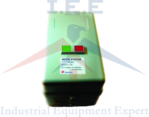 5 HP Single Phase Magnetic Starter Motor Control New w// Manual On//Off button
