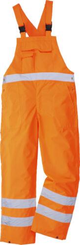 Hi-Vis Bib /& Brace Imperméable Sans Doublure Respirant Pantalon Dungarees GO//RT S388