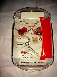 NEW-Anchor-Hocking-Fire-King-2-Lt-Glass-Rectangular-Baking-Oven-Microwave