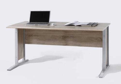Schreibtisch Büro Office Line in Sonoma Eiche Breite 150 cm Metallgestell
