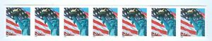 US-3981-USA-FLAG-STATUE-OF-LIBERTY-STRIP-OF-7-39-cent-STAMPS-PLATE-P-1111
