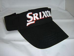 Image is loading SRIXON-GOLF-VISOR-BLACK-ONE-SIZE-FITS-ALL- 2a235569673