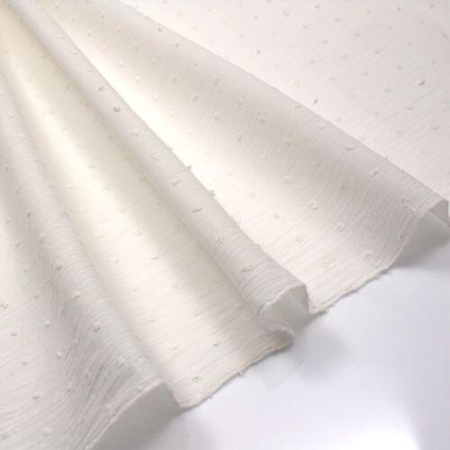 100/% tissu de coton léger Pointillée Swiss Voile-Crème