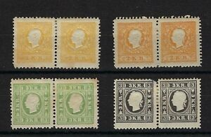 Austria-Michel-10ND-yellow-10ND-orange-11ND-amp-12ND-Second-Issue-Reprints