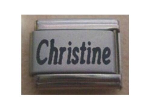9mm tamaño clásico italiano encantos nombres nombre-Christine