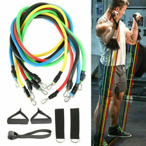 New 11pcs//Set Pull Rope Exercise Resistance Bands set Home Gym Equipment Fitness