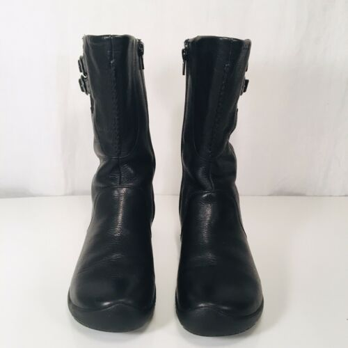 Keen Black Baby Bern Leather Low Boots Size 6.5