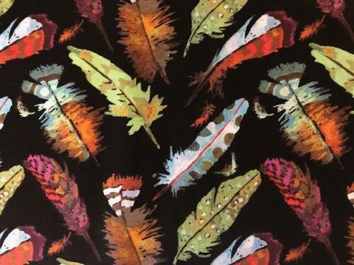 Plumas en Negro Curio por Betsy Olmsted para Windham FQ-Mt 100/% algodón