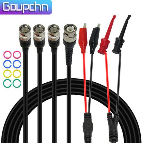 Goupchn BNC Test Lead Kit for Oscilloscope Alligator Clip Mini Grabber Hook Clip