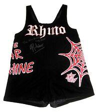 WWE TNA ECW RHINO RING WORN SINGLET SIGNED W/ PIC PROOF 3