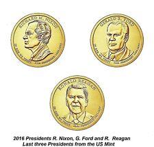 Nixon 5 Coin Set 2016 3D /& 2P Richard M Presidential Golden Dollar BU $1