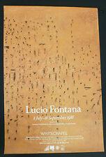 Lucio Fontana - Lucio Fontana   1988 ART EXHIBITION POSTER