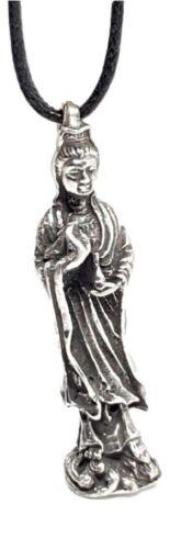 Dios indio Quan Yin Madre de Misericordia Joya En El Loto Cable colgante de encaje