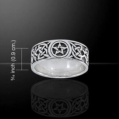 Oak Leaf Pentacle Pentagram Sterling Silver Ring by Peter Stone Fine Jewelry