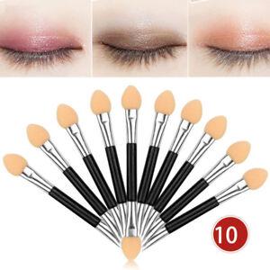10Pcs-Makeup-Double-end-Eye-Shadow-Eyeliner-Brush-Sponge-Applicator-Tool-Simple