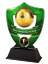 FOOTBALL MANAGERS PLAYER AWARD TROPHY ACRYLIC *FREE ENGRAVING* 100-160mm 4 sizes