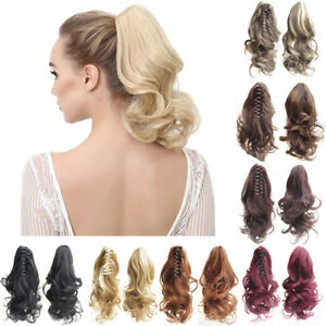 Curly-Claw-Ponytails-Women-Short-Wavy-Blonde-Ponytail-Synthetic-Hair-Extensions